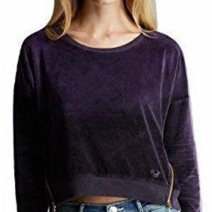 True Religion Women's Moto Boyfriend Sweatshirt